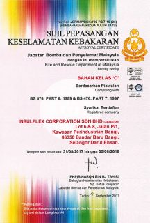BOMBA Approval Certification (30/8/2018)