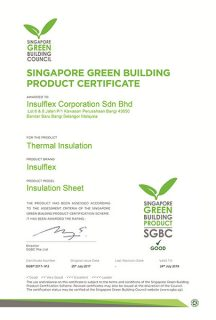 (Sheet) Singapore Green Building Certification (24/7/2019)