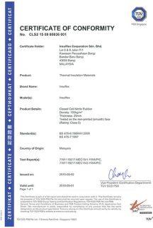 TUV Certificate of Conformity Class 0 (1/9/2018)